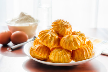 Some Puffs in a plate