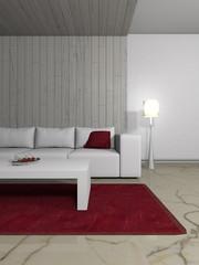 Wohndesign - Sofa weiß