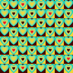 vector seamless abstract background with hearts