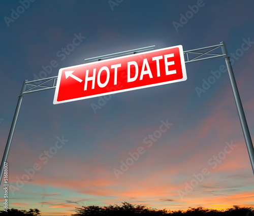 Hot date concept.