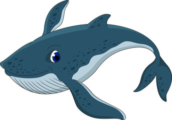 blue whale cartoon