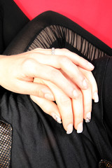 womans hand