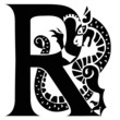 Capital letter R with gargoyle