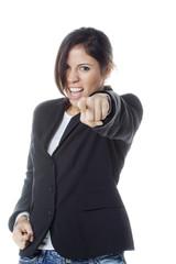 pugnacious young business woman