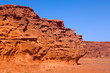 An unusual  rock formations  in Wadi Rum desert