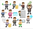 Business People with Various Concepts and Poses