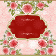 Festive pink vintage background with roses