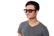 Young happy man wearing dark sunglasses
