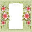 Vintage background for the wedding with roses