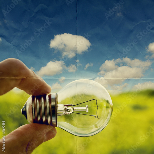 lightbulb on paper