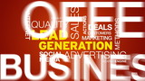 Lead Generation Word Cloud Animation