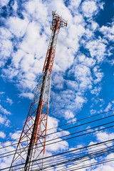 Antenna tower is a tall tower designed to support antennas