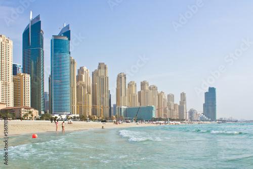 Aluminium Dubai Marina Beach from sea