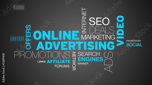Online Advertising Word Cloud Animation