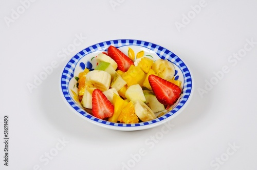 Fruit salad in bowl © Arena Photo UK