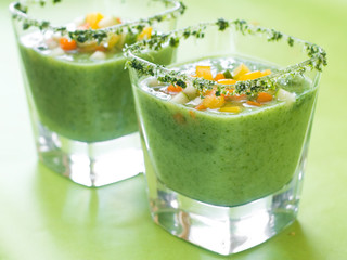 Fresh cold soup (gazpacho)