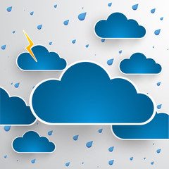 Cloud theme vector background. Bad weather.Eps 10