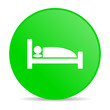 hotel green circle web glossy icon