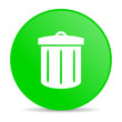 recycle green circle web glossy icon
