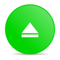 eject green circle web glossy icon