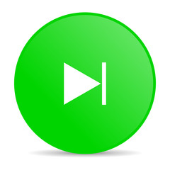next green circle web glossy icon