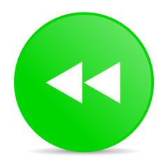 scroll green circle web glossy icon