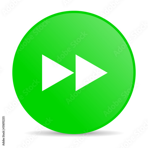 scroll green circle web glossy icon