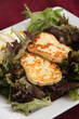 halloumi cheese on salad