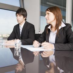 Scheidungsanwalt mit Klient