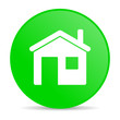 home green circle web glossy icon