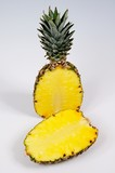 Pineapple cut in half © Arena Photo UK