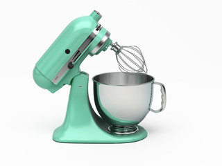 Light green vintage kitchen mixer