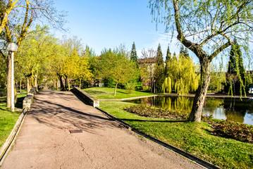 Parque de San Martin en Vitoria (Alava, España)