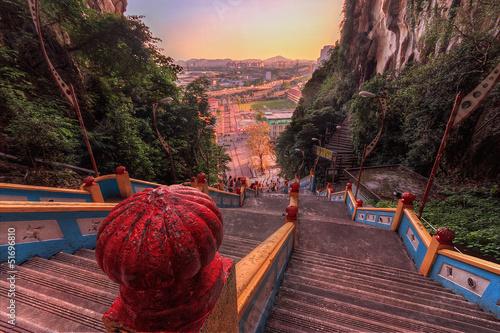 Leinwandbild Motiv Stairs at Batu Caves