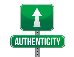 authenticity road sign illustration design