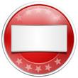 Button rot mit Schild