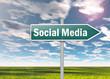 """Signpost """"Social Media"""""""