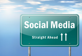 "Highway Signpost ""Social Media"""
