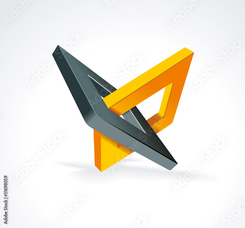 Illustration with orthogonal rhomb symbols.Unity concept.Vector.