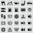 Car dashboard icons set.