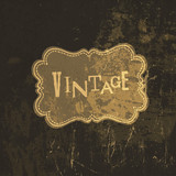 Grunge vintage card template. Vector
