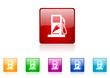 fuel vector glossy web icon set