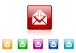 mail vector glossy web icon set
