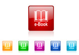 e-book vector glossy web icon set