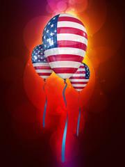 holiday balloons (usa flag)