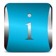 info button, blau