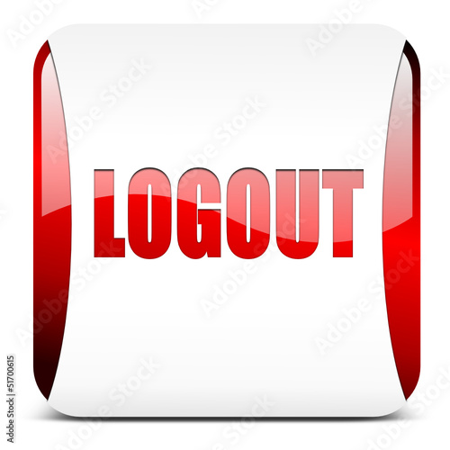 Logout button rot