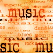 illustration of music word background, texture
