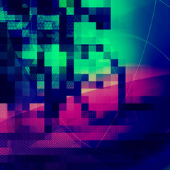 abstract pixel design