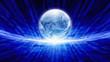 Blue transparent globe